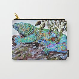 New Caledonia Lizard Art Deco Style Carry-All Pouch