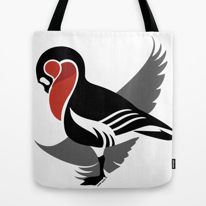 Red-breasted Goose (branta Ruficollis) Tote Bag by Kataszep (TBG9111971) photo