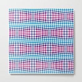 Dottywave - Blue Purple wave dots pattern Metal Print