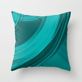 Joyful semicircular cuts of light blue fabric with intersections of dark ribbons Throw Pillow