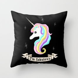 Fabulous unicorn Throw Pillow