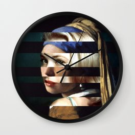 "Vermeer's ""Girl with a Pearl Earring"" & Grace Kelly Wall Clock"
