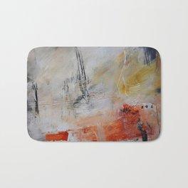 White painting print  Bath Mat