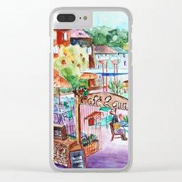Café Latin Valbonne Clear iPhone Case