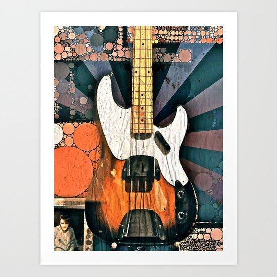 Elvis' Bass Art Print