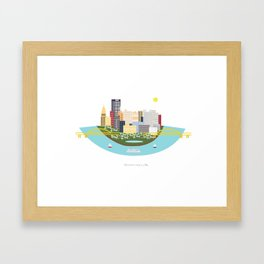 Pittsburg Framed Art Print