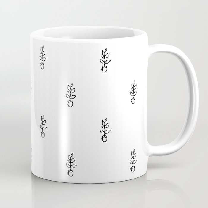 Plant in a coffee cup Coffee Mug