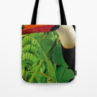 brasil Tote Bags featuring Brasil Tropical by watermelon