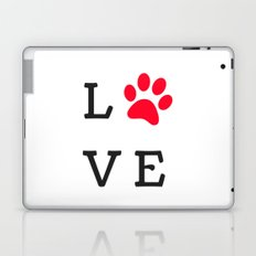 LOVE Paw Print (Dog Valentine) Laptop & iPad Skin
