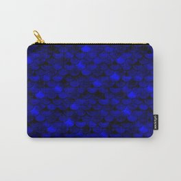 Dark Blue Scales Carry-All Pouch