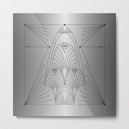 silver night star Metal Print