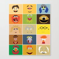 muppets Canvas Prints featuring We Are the Muppets by Fries Frame