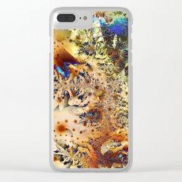WHITE DARK Clear iPhone Case