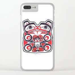 Bear and Man Clear iPhone Case