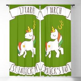 St. Patrick's Day Unicorn 2 Blackout Curtain