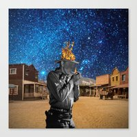 western Canvas Prints featuring Western by Cs025