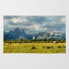 Horses and the Grand Teton Rug