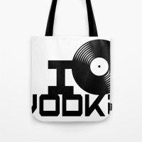 vodka Tote Bags featuring LOVE VODKA by Giovanni Potenza
