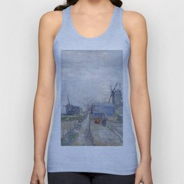 Montmartre - Windmills and Allotments by Vincent van Gogh Unisex Tank Top