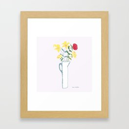Spring Lilies and Roses Framed Art Print