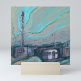 Masts, dishes and wires Mini Art Print