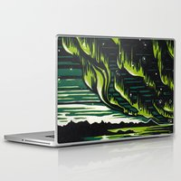 northern lights Laptop & iPad Skins featuring Northern Lights  by Joey Bareither