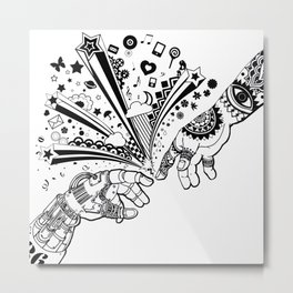 Creation of human Metal Print