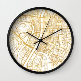 LYON FRANCE CITY STREET MAP ART Wall Clock