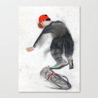 skateboard Canvas Prints featuring skateboard by Crooked Walker