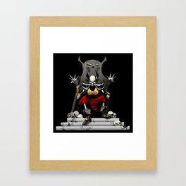 Skeletal Noble Framed Art Print