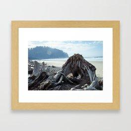 Cape Meares Beach in Oregon Framed Art Print