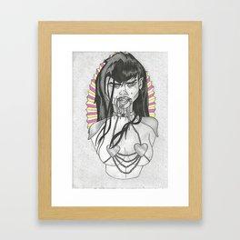 Fashion Heroes Draku Lala Framed Art Print