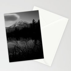 Lassen Volcanic National Park - Mt. Lassen Reflection in Black and White Stationery Cards