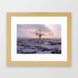 A Winter's Sunset Framed Art Print
