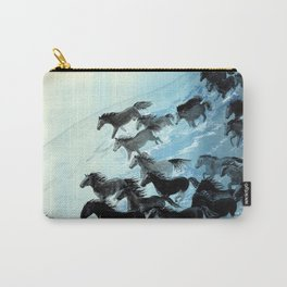 Horses In Surf Carry-All Pouch