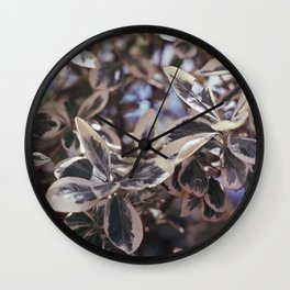 fading leaves Wall Clock