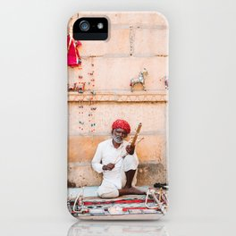 Indian Merchant in Jaisalmer, Rajasthan, India | Travel Photography | iPhone Case
