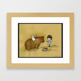 and find new things to do Framed Art Print