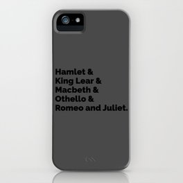 The Shakespeare Plays II iPhone Case