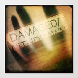 Damaged/Withdrawn Canvas Print