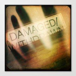 Damaged/Withdrawn Canvas Print