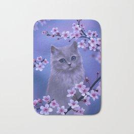 Spring kitten Bath Mat