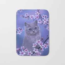 Spring kitten Bath Mat