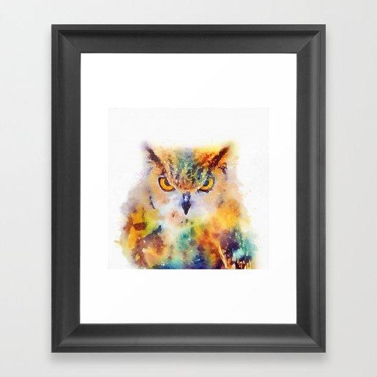 The Wise - Owl Framed Art Print