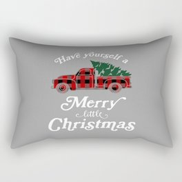 Have yourself a Merry little Christmas Vintage Truck Rectangular Pillow