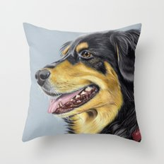 Dog Portrait 01 Throw Pillow