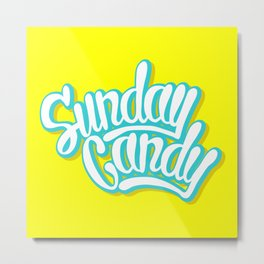 Sunday Candy Metal Print