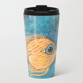 Fish In Blue Travel Mug