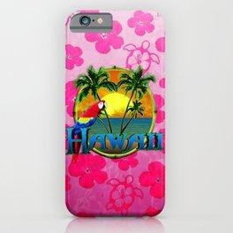 Hawaii Sunset Pink Honu iPhone Case