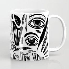 Eye Harp Leaves Coffee Mug